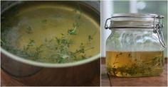 Remedio para la salud pulmonar de tomillo y miel