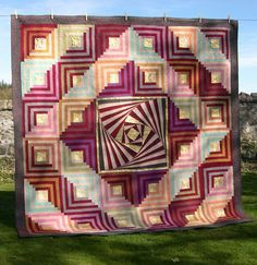 Shot 2 Pieces by Linzi Upton at The Quilt Quine (UK).  Competition quilt.