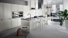 Scavolini USA Official Site: Not only Italian Design Kitchen Cabinets, but also Bathrooms and Furniture for Living Areas. Modern Kitchen Cabinets, Old Kitchen, Kitchen Decor, Kitchen Appliances, Island Kitchen, Scavolini Kitchens, Muebles Living, Style Deco, Minimalist Kitchen