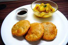Scrumptious Indian Recipes: Whole wheat Khasta Kachori with aloo ki sabji