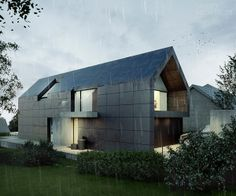 sloping site house | single-family house by Mateusz Kuo Stolarski, via Behance