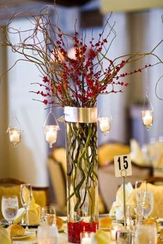 Awesome Christmas Wedding Centerpieces