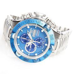 Invicta 50mm Subaqua Noma V Swiss SW500 Automatic Stainless Steel Bracelet Watch w/ 3-Slot Dive Case evine.com