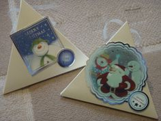 The Snowman Christmas gift boxes using Crafters Companion