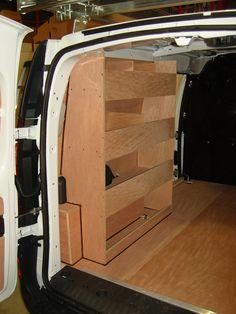 Renault Kangoo Maxi/ Mercedes Citan XLWB - Nearside racking, 3 shelf kit