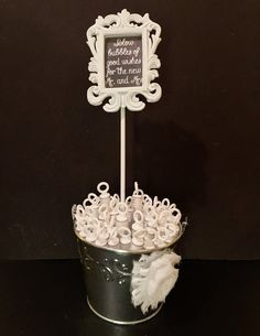 Wedding Bubbles With a Cute Message - Comes In a Bucket With A Cute White Frame  - Rustic Wedding Bubbles - 50 Pieces