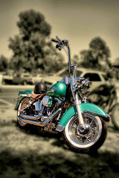 I love the color of the Harley, I love all the Chrome! :-)