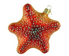 Old World Christmas Starfish Ornament. #Christmas #NewYear #Ornament #Decor #giftidea #Gift #gosstudio .★ We recommend Gift Shop: http://www.zazzle.com/vintagestylestudio ★