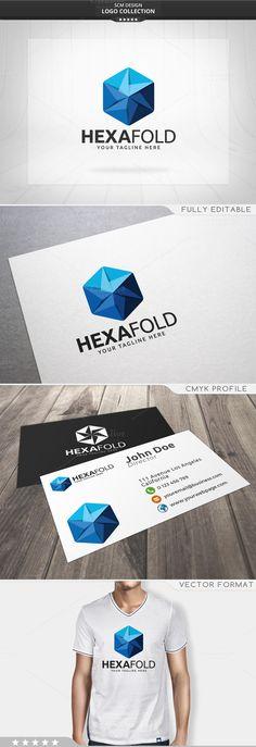 Hexa Fold Logo @creativework247