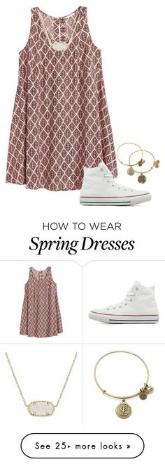 """""""So excited for spring"""" by annalavelle13 on Polyvore featuring H&M, Converse, Kendra Scott, Alex and Ani, women's clothing, women, female, woman, misses and juniors"""