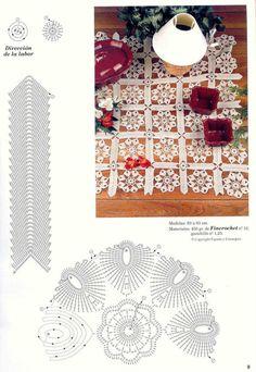 View album on Yandex. Crochet Doily Patterns, Baby Knitting Patterns, Crochet Motif, Crochet Doilies, Crochet Flowers, Crochet Lace, Crochet Stitches, Crochet Table Runner, Crochet Tablecloth