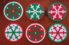 snowflakes - set of six