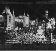 1940 Christmas Santa Claus Lane Parade  on Hollywood Blvd.