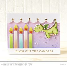 Handmade card from Torico featuring Birthday Candles Die-namics #mftstamps