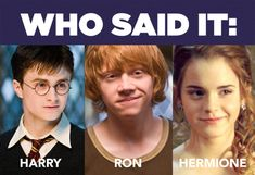 Who Said It: Harry, Ron, Or Hermione - I got 10/10, what did you get?