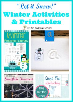 Winter Activities and Printables