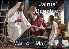 Talitha Cumi: The Story of Jairus and His Daughter ***************************************** Jairus looked at the decora. Jairus Daughter, Modern Names, Only Believe, Why Jesus, Jesus Stories, Very Tired, After The Storm, John The Baptist, Latter Day Saints