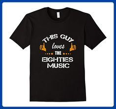 Mens This Guy loves Eighties Music Fun t-shirt Father's day gift 2XL Black - Holiday and seasonal shirts (*Amazon Partner-Link)