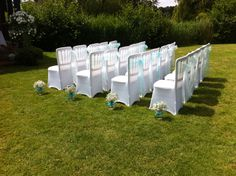 Outdoor wedding ceremony flowers