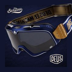 In the spirit of racing, we are proud to announce the Deus Ex Machina BARSTOW goggle in collaboration with @ride100percent now available at finer shops worldwide and Deus flagship locations. See direct link on bio #ride100percentDEUS #ridebarstow #ride100percent #Padgram
