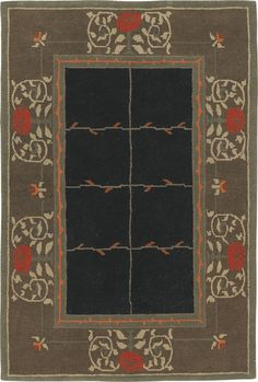 Rose, Ebony, hand-knotted pure Tibetan Himalayan wool carpet.  View the entire Craftsman Collection at  www.tigerrug.net