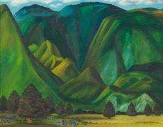 New Zealand Landscape, New Zealand Art, Nz Art, Landscape Paintings, Landscapes, Shades Of Green, Leo, Coast, Childhood