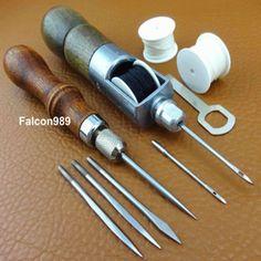 Купить товар2pc Leather Craft Sew 4in1 Stitch Lacing Fid Scratch Lock Stitch Thread Awl Tool http://ali.pub/93y6z