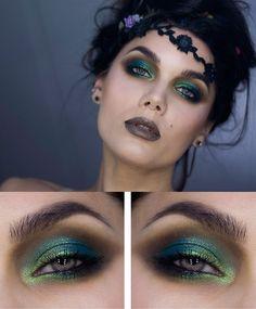 Яркий макияж для серых глаз фото