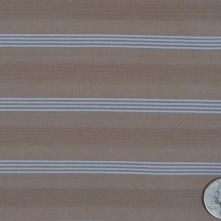 Ginger Snap Brown and Placid Blue Italian Cotton Textured Striped Shirting