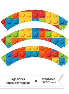 Lego Bricks Cupcake Wrappers from PrintableTreats.com