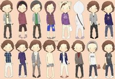 The many outfits of Harry Styles...  Check out some 1D items for sale at: http://onedirectionerscorner.weebly.com