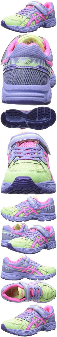 ASICS Pre Contend 3 PS Running Shoe (Little Kid), Pistachio/Hot Pink/Lavender, 2.5 M US Little Kid