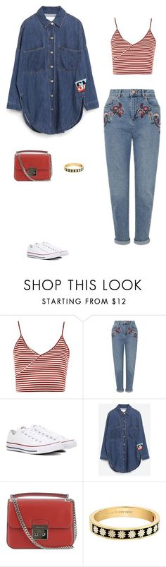 """""""Sans titre #7525"""" by youngx ❤ liked on Polyvore featuring Topshop, Miss Selfridge, Converse, Michael Kors and Kate Spade"""