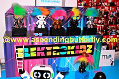 Elektrokidz which bring back memories of Troll dolls, except these dance to the beat of the music you are listening to! Blogger Bash Sweet Suite 2014 NYC Blogging Conference - http://www.ascendingbutterfly.com/2014/08/to-bloggerbashnyc-with-love.html