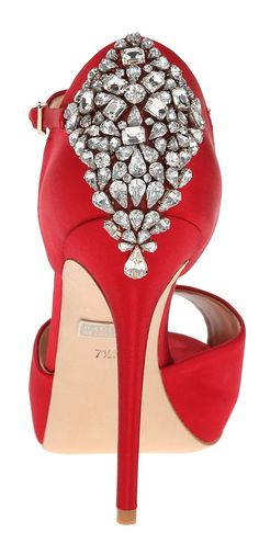 My good friend sent these to me! Beautifully embellished red shoes! I love these!