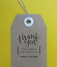Thank You Wedding Stamp, Handwritten Calligraphy - Personalized Stamp for Thank you notes, wedding favors, gift tags - Version G on Etsy, $28.00