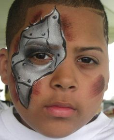 1000 images about face paint on pinterest cheek art for Terminator face tattoo