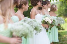 Love the flower combo and the dress colours