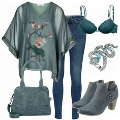 Čudovita tunika in torba, nakit ni zame Komplette Outfits, Casual Outfits, Fashion Outfits, Fashion Trends, Fashion Boots, Skinny Fit Jeans, Blue Jeans, Business Outfit, Womens Fashion For Work