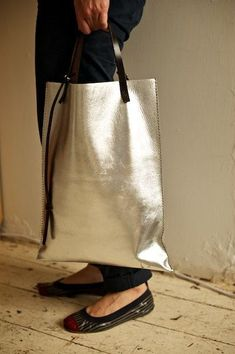 Was 230 Now 180 Handmade Leather Tote in Silver on Etsy Items similar to SALE! Was 230 Now 180 Handmade Leather Tote in Silver on Etsy Leather Bags Handmade, Handmade Bags, Etsy Handmade, Handmade Bracelets, Leather Purses, Leather Handbags, Leather Jewelry, Brown Handbags, Leather Totes
