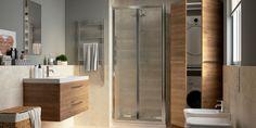 Sostituisci la vasca con un box doccia e ricava uno spazio ben organizzato per lavatrice e asciugatrice. Puoi coordinare tutti i mobili del bagno scegliendo la serie Remix.