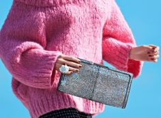 En-shined Designs for Holiday Sparkle  glitter clutch \ Doesn't this kind of look like a barbie doll?