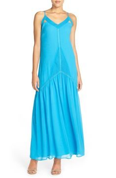 Adelyn Rae Strappy Back Chiffon Maxi Dress available at #Nordstrom