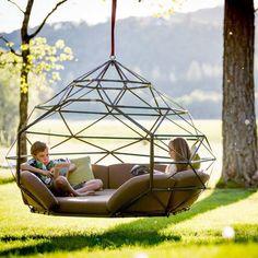 Hanging bird cage hammock