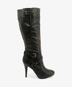 Ankle Strap Boots in black. WANTTTTTT!!!!!!