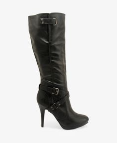 Ankle Strap Boots in black
