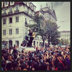 jaredleto Photo Flashback: Flashmob in Lisbon, Portugal — #LoveLustFaithDreamsTour