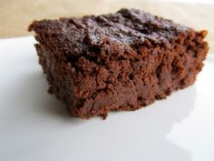 Coffee Infused Protein Brownies: No fake food in this recipe!  All natural protein!