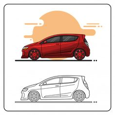 chevy sonic City Car, Chevy, Prints, Cars, Collection, Car Washes, Sport Cars, Red, Cutaway