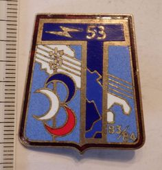 insigne militaire @ pucelle 53° BT 83.84 TRANSMISSION DRAGO G1938